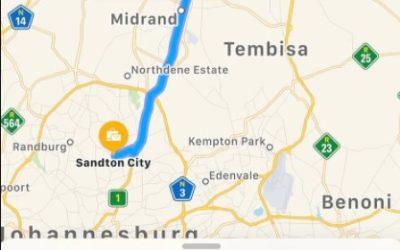 Pretoria to Sandton