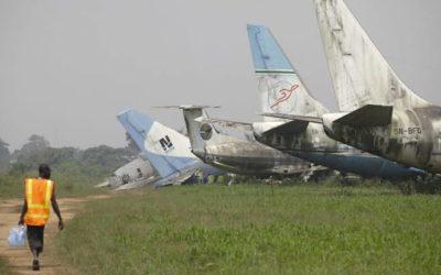 Jet scrap yard